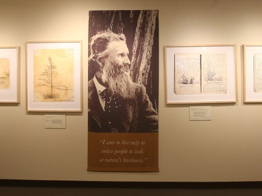 "The La Quinta Museum unveiled three new exhibits as part of the United Nations' designation of 2015 as the International Year of the Light and Light-Based Technologies. ""Nature's Beloved Son: Rediscovering John Muir's Botanical Legacy"" highlights his love of botany and traces his travels through North America. ""Iconic Light"" is a photo exhibit of the Coachella Valley in the 1930s, with rare photos by Ansel Adams and Dorothea Lange. The third exhibit is ""Poetry in Space: Hubble at 25,"" featuring images from the Hubble telescope. In this photo part of the John Muir exhibit is photographed. In this photo part of the John Muir exhibit is photographed."