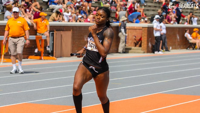 University of Cincinnati sprinter Tiona Lattimore (Hughes High School) is among the top Bearcats who will compete in the 2018 American Athletic Conference Outdoor Track & Field Championships, Friday-Sunday at UC.