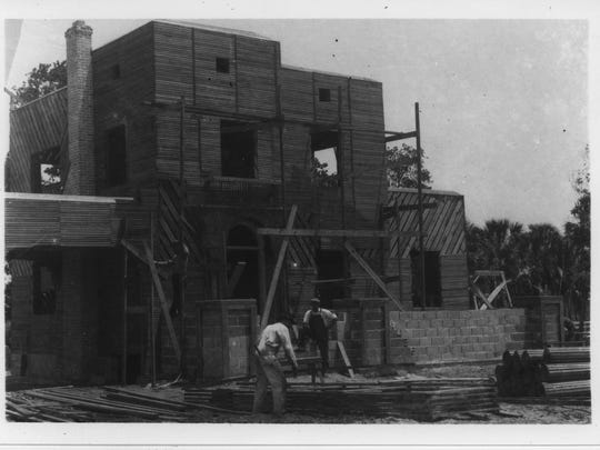 1. Florida Preparatory Academy. 2. Florida Preparatory Academy in modern day. 3. Builders work on what would become part of Magnolia Park.