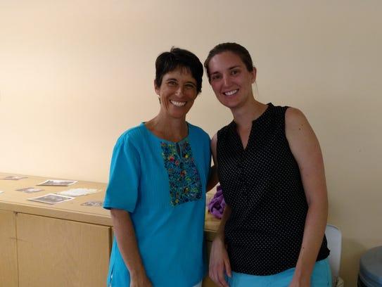 Marieka Brown, left, and Kari Lenander