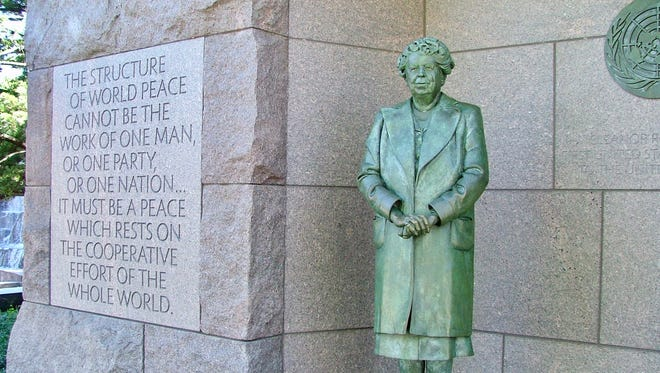 The memorial to Eleanor Roosevelt in Washington, D.C.