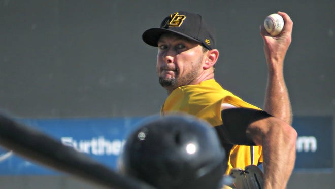 Daniel Sattler, a former Somerset Patriots reliever finishing up his year with the New Britain Bees, has electric stuff on the mound.