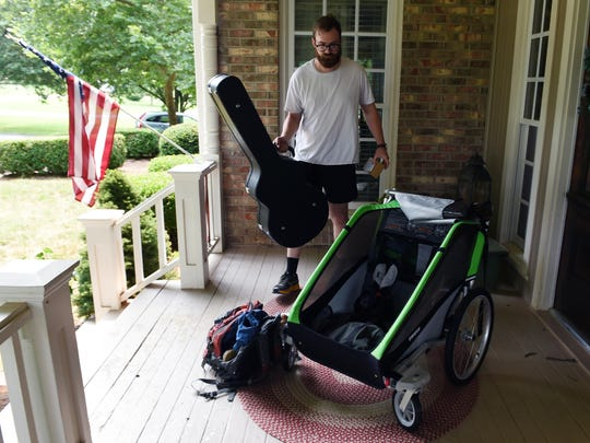 Musician and Brentwood resident Riley Moore is walking 1,600 miles from Maine to Nashville over the next four months. He is using a Thule stroller to carry his guitar and belongings. Along the way, he will be joined by three other musicians and they will play at different music venues during their journey. They are calling it The Walking Guys Tour, and it will last four months, starting July 8. Riley has spent the past year writing songs and selling real estate.