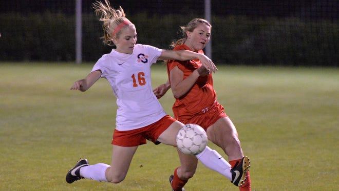 Oakland's A.B. Hawkins (16) was named to the TSSCA All-State soccer team.