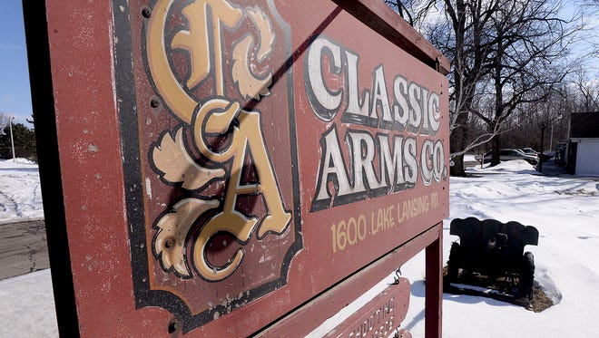 Classic Arms Co., in Lansing, is closing after 50 years. The gun shop specialized in black powder at first but also sold other guns and gear. The cannon, picture in the background, is staying with the family.