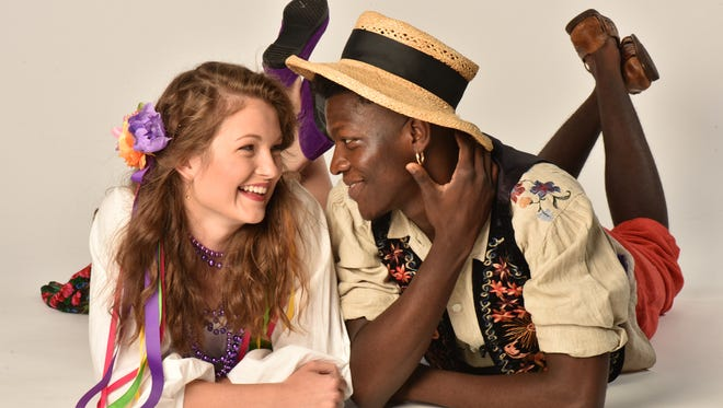 """Emily Meinerding and Eric Lamont Wilkes Jr. in """"The Winter's Tale."""""""