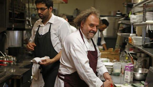 Jean-Robert in kitchen