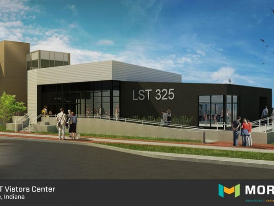 Morley is designing the USS LST 325 dock into a newly designed access system and pedestrians will be able to enjoy a roughly 3,000 square foot visitors center