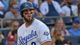The Milwaukee Brewers acquired third baseman Mike Moustakas from the Royals for outfielder Brett Phillips and right handed pitcher Jorge Lopez on Friday.