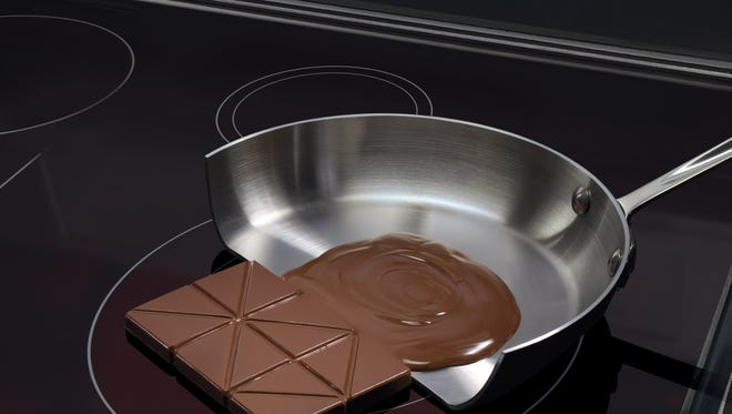Induction uses magnets to heat pots and pans without directly heating the stove top.