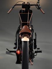 A custom motorcycle built by Retrospeed in Belgium