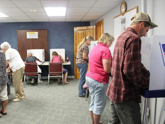 In this file photo, Otero County residents cast their