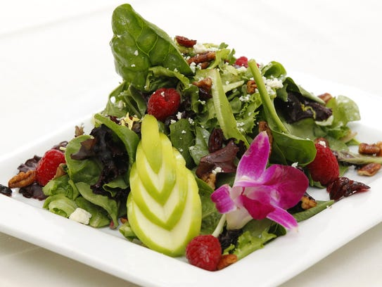 Raspberry Harvest Fest Salad from Watts Tea Shop