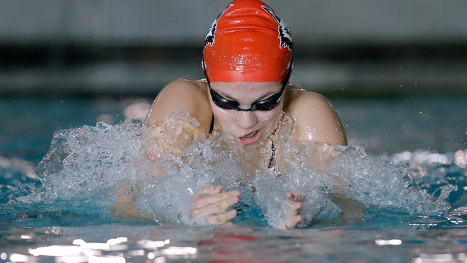Jefferson HIgh School's Andi Acosta won the 200 individual medley Thursday at the District 1-5A Swimming Championships at the SAC.