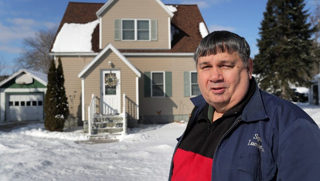 Homeowner Larry Squires on Wednesday, February 7, 2018, in Manawa, Wis.