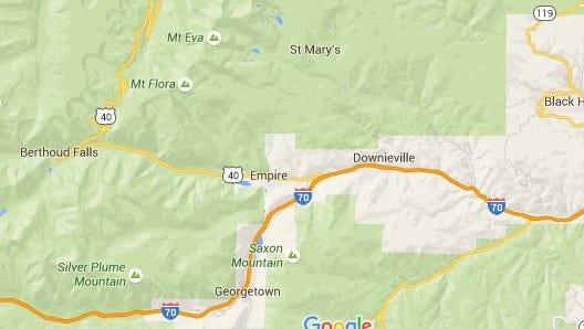 St. Mary's Glacier is located near Idaho Springs, Colorado.