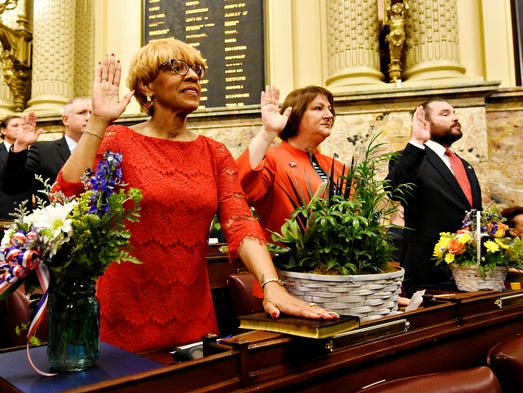 Rep. Carol Hill-Evans, D-York City, during the swearing-in