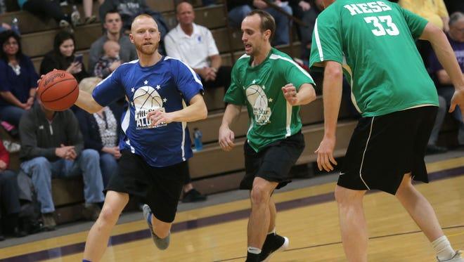 Clear Fork Alum Mark DeLaney drives to the hoop during the 40th News Journal All-Star Classic in March. He sat down with our Jake Furr to talk about his state championship experience while in high school.