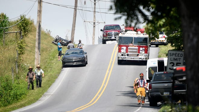 Police and fire responded to a report of an accident between a buggy and a car at 12:27 p.m., Aug. 3, on Ramona Road in Jackson Township. An Amish woman was ejected from the buggy, but was coherent at the scene. She was transported for a head injury.
