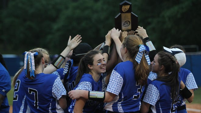 The Godby softball team beat Marianna on Friday 8-2 to win the program's first district title in 20 years.