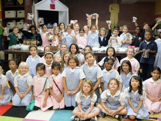 Elementary students raise more than $700 for Hurricane