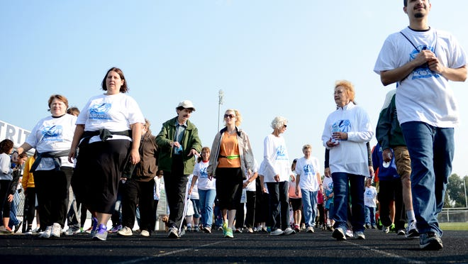 The first annual Friends of the Poor Walk to benefit poverty in Brown County was held at Notre Dame Academy on Saturday.