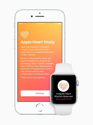 Apple is teaming up with Stamford on the Apple Heart Study app.
