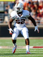 Miami linebacker Denzel Perryman is considered one