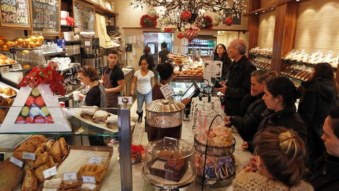 Customers at Martine's Fine Bake Shoppe in Scarsdale.