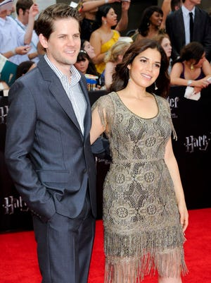America Ferrera and husband Ryan Piers Williams attend the premiere of 'Harry Potter and the Deathly Hallows Part 2' in 2011 in New York.