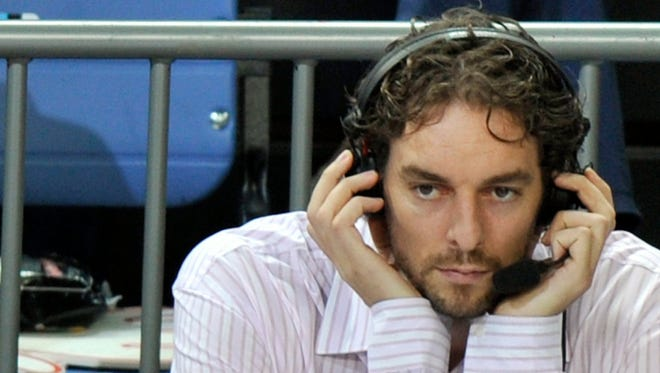 Pau Gasol and the Spain team will try to defend their FIBA European title when the tournament begins Sept. 4.