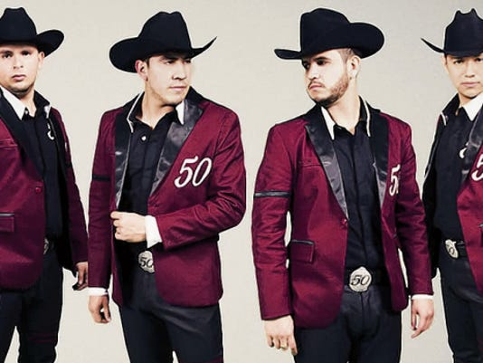 Regional Mexican group Calibre 50 will perform at 8 p.m. Saturday at the El Paso County Coliseum, 4100 E. Paisano. Banda Carnaval also will perform. Tickets will cost 41.50 and 60.