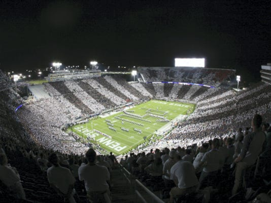 Penn State's Beaver Stadium is shown here during a night game vs. Rutgers on Sept. 19. The school is determining whether to renovate or rebuild Beaver Stadium.