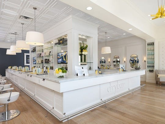 An interior shot of a Drybar blowdry shop.