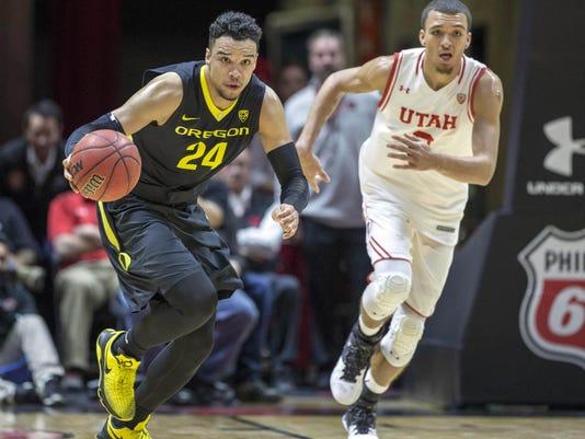 NCAA Basketball: Oregon at Utah