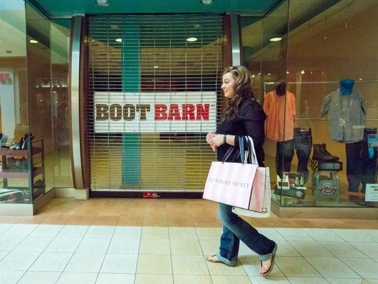 """Janelle Arzabal, 25, walks by the area where the Boot Barn will be on Tuesday, May 3, 2016, in Mesilla Valley Mall. """"Hearing about the Sephora is amazing,"""" said Arzabal. """"They need to bring in more store like that for sure."""""""