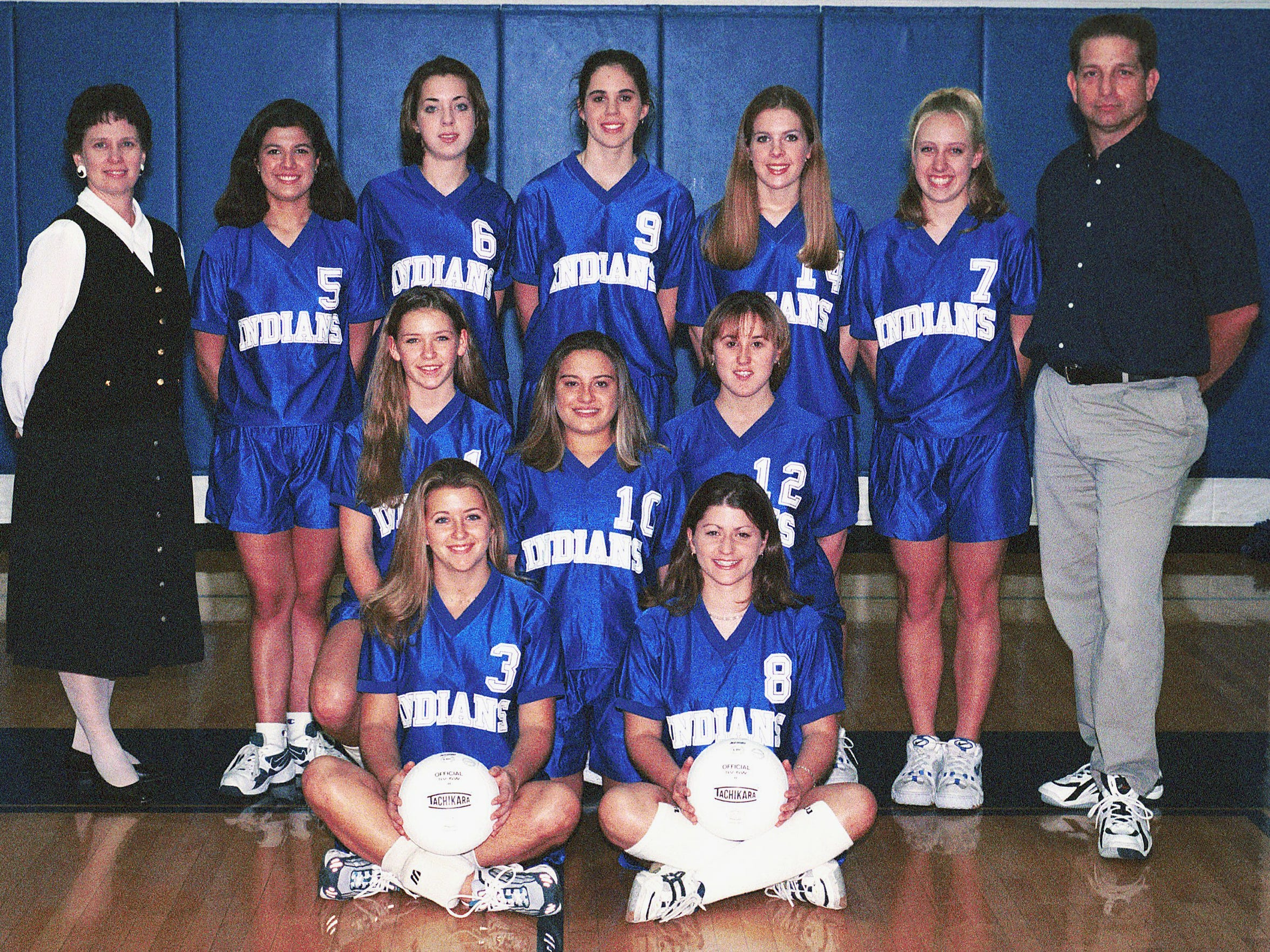 Bonnie Ball, top left, with the 1999 Fort Defiance