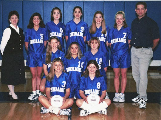 Bonnie Ball, top left, with the 1999 Fort Defiance volleyball team.
