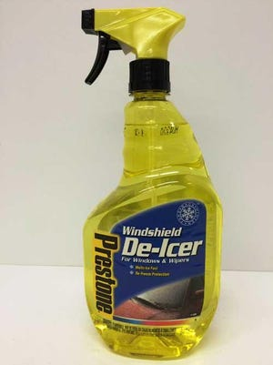 Prestone Windshield De-Icer and Prestone Ice & Frost Shield contain methanol and ethylene glycol and children may gain access to the product by removing the trigger assembly, posing a risk of poisoning.
