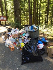 Trash has become a big issue in the Opal Creek and