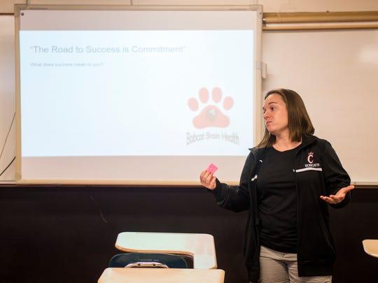 Central High teacher Rebecca Monhollen leads her class