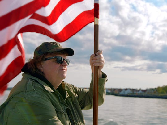 "In addition to writing and directing ""Where to Invade Next,"" Moore is also creator of ""Fahrenheit 9/11"" and ""Bowling for Columbine."""