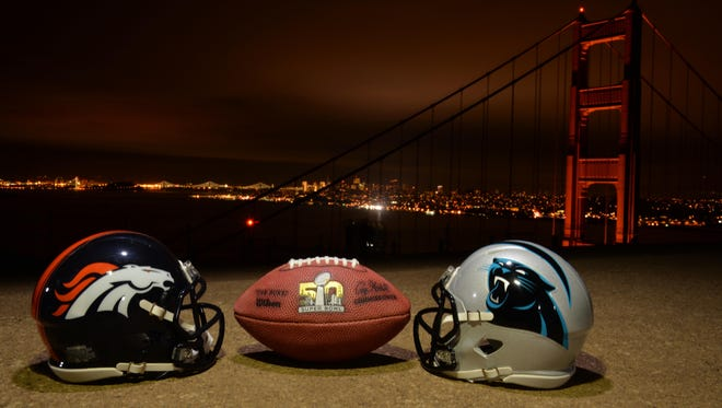 The Denver Broncos square off against the Carolina Panthers in Super Bowl 50 on Feb. 7 in the San Francisco Bay area.