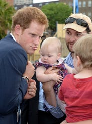 Prince Harry on walkabout