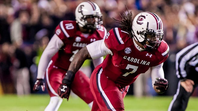 Jadeveon Clowney will try to make a big impact in his last game for South Carolina.