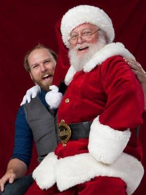 Filmmaker Derek Lindeman with Santa on his lap