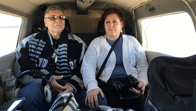 George Yslas and his wife, Diane, fly from Daggett, California, to Goodyear, for cancer treatment.