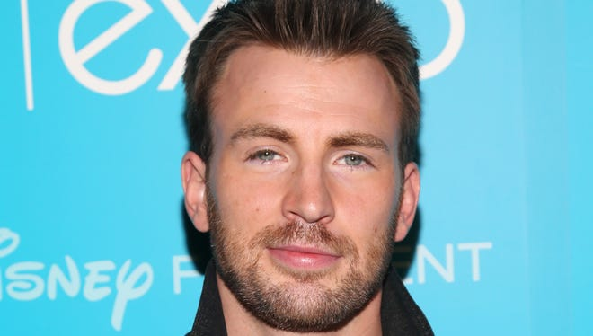 Actor Chris Evans joins a long line of Hollywood stars who have served as grand marshal at the Daytona 500.