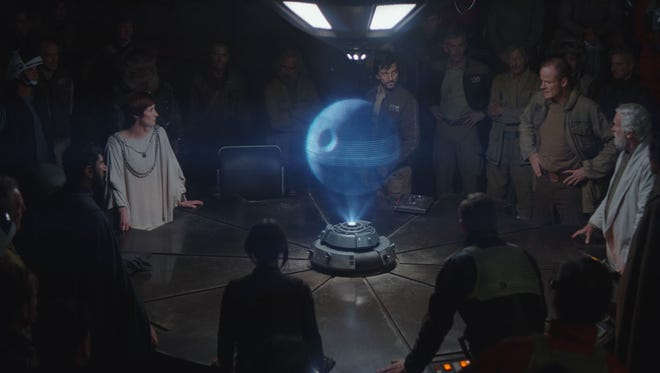 "Rebels plot to steal the plans for the death star in ""Rogue One: A Star Wars Story."""
