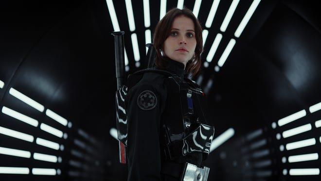 """Felicity Jones stars as Rebel spy Jyn Erso in """"Rogue One: A Star Wars Story."""""""